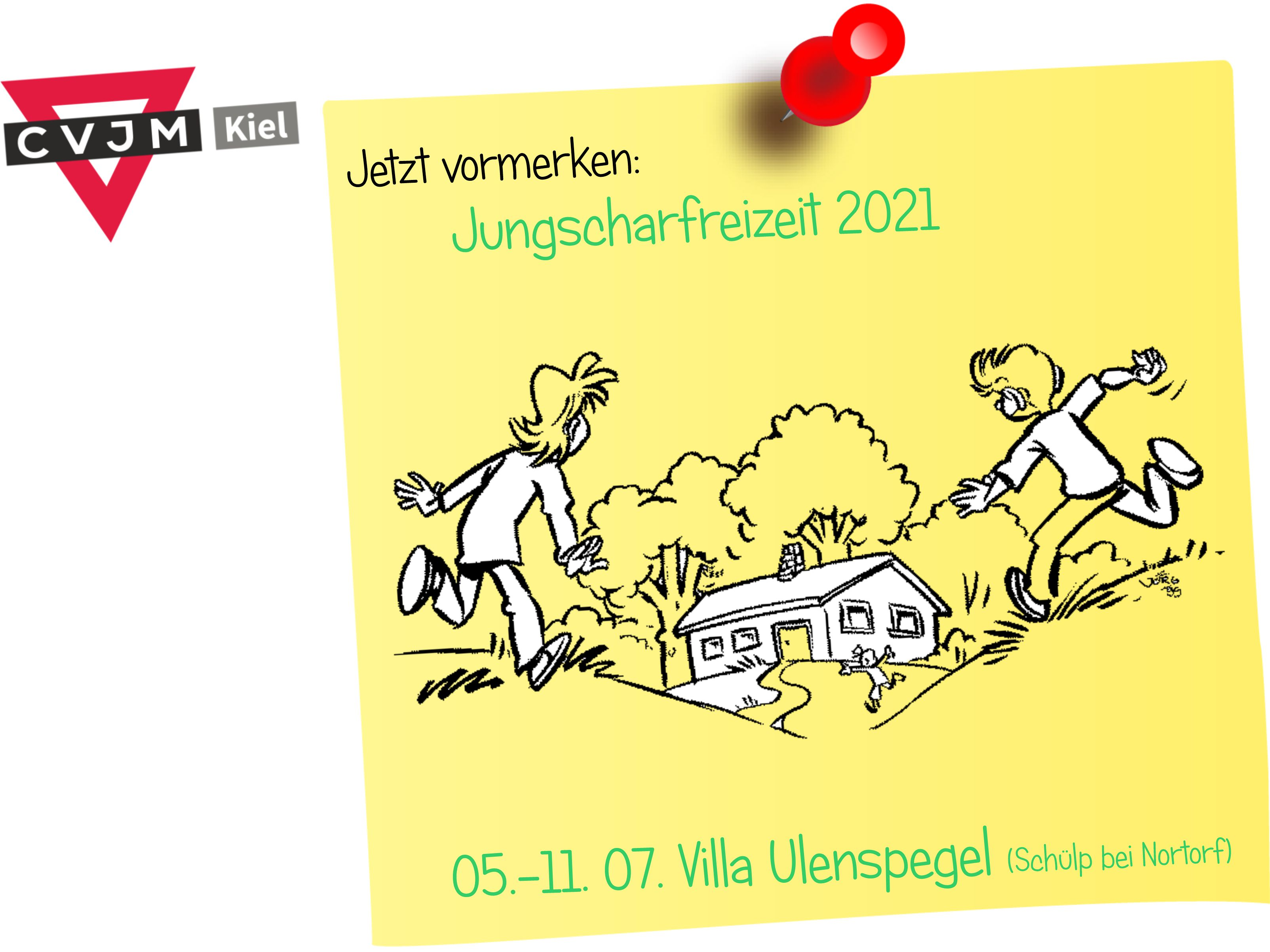 SavetheDateJungscharfreizeit2021VillaUlenspegel